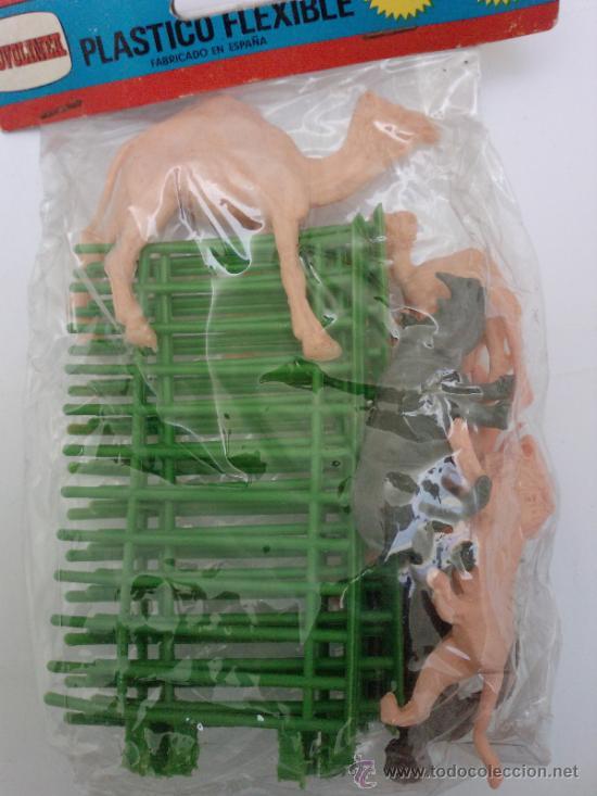 Figuras de Goma y PVC: BOLSA ZOO-JAULA Y ANIMALES - Foto 2 - 35566639